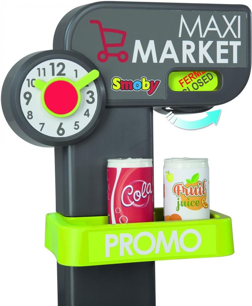 Интерактивный супермаркет smoby toys maxi market со звуковыми эффектами, тележкой и аксессуарами фото №4