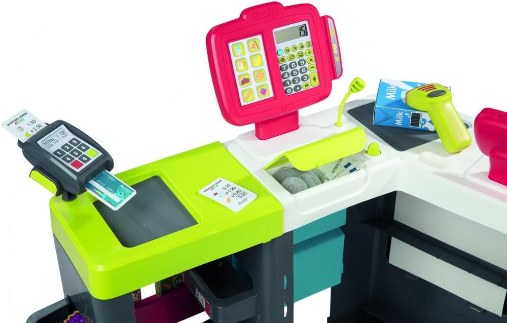 Интерактивный супермаркет smoby toys maxi market со звуковыми эффектами, тележкой и аксессуарами фото №5