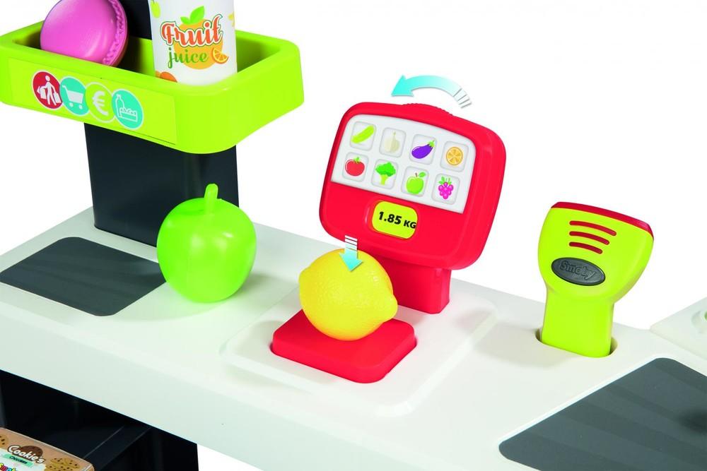 Интерактивный супермаркет smoby toys maxi market со звуковыми эффектами, тележкой и аксессуарами фото №6
