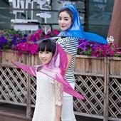 """Дождевик """"Зонт с капюшоном"""" для детей и взрослых"""