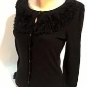 XS черная женская кофта на пуговицах