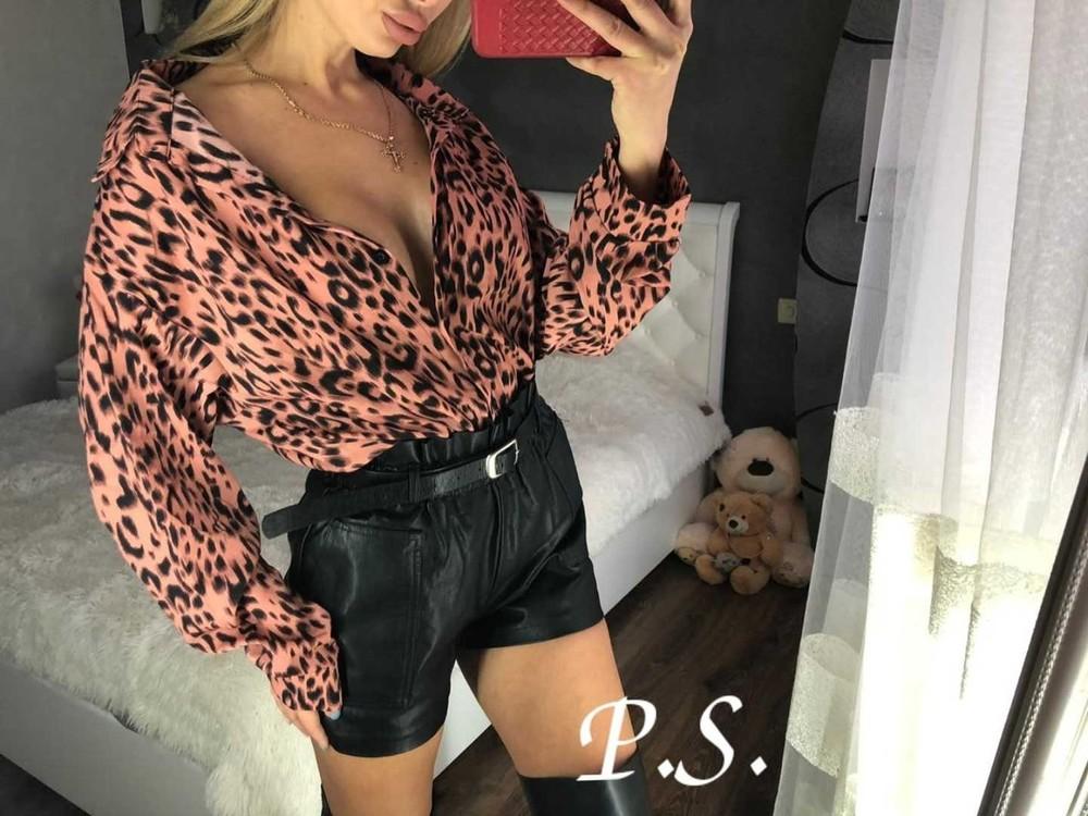 Женская стильная леопардовая блузка фото №1