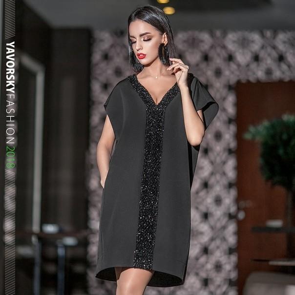 Платье коктельное, размер 42-50 фото №2