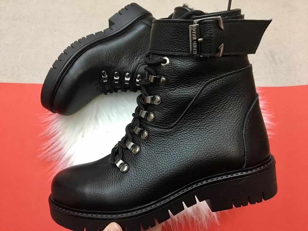 Кожаные зимние женские ботинки, б-5 фото №1