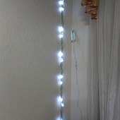 Гирлянда светодиодная Водопад белый прозрачный силикон 240 LED 3м2м