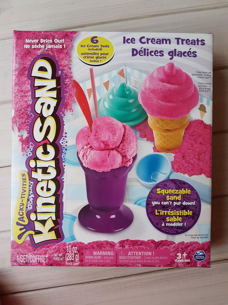 Kinetic sand ice cream , игровой набор мороженое, кинетической песок, розовый фото №1