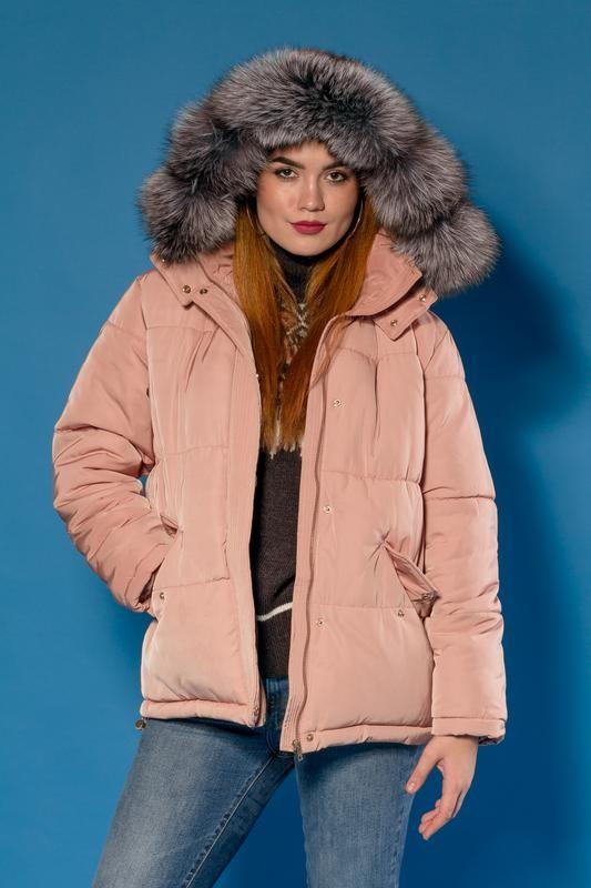 Куртка шикарная парка-пуховик модель 2018. капюшон- фин. чернобурка есть размеры h&m фото №1