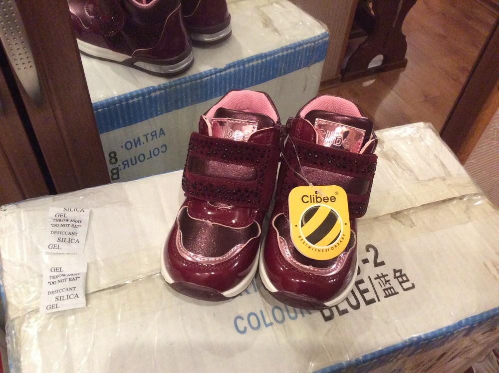 Ботинки демисезонные для девочки утеплённые. фото №1