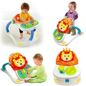 Детский игровой центр ходунки каталка столик для кормления игровая панель 4 в 1 HE 0802