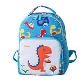 Детский рюкзак, голубой. Большой динозаврик.