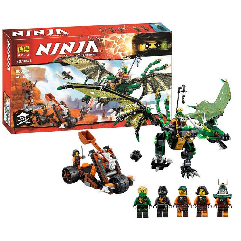 Конструктор бела нинзя 10526 bela ninja зеленый дракон нинзяго ninjago фото №1