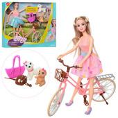 Кукла Барби с велосипедом
