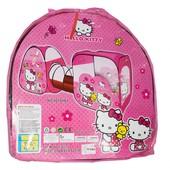 Палатка 8015 Hello Kitty с тоннелем, для девочки, 3в1