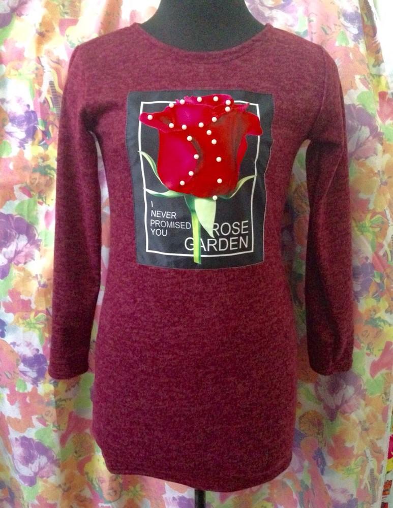 Теплые детские и подростковые ангоровы платья с пайетками и нашивками, 3  расцветки, есть перевертыши 7b0a5f49440