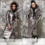 Женская стильная зимняя куртка теплая