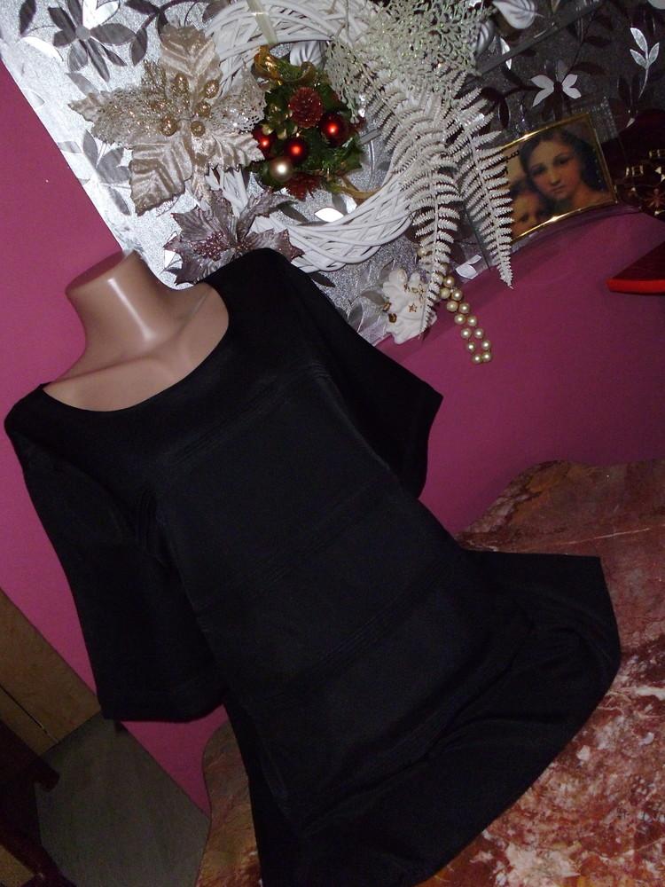Распродажа! блуза черная рр 18 бренд betty jackson фото №1