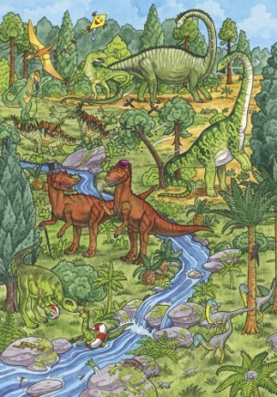 Мій великий віммельбух. тварини динозаври фото №5