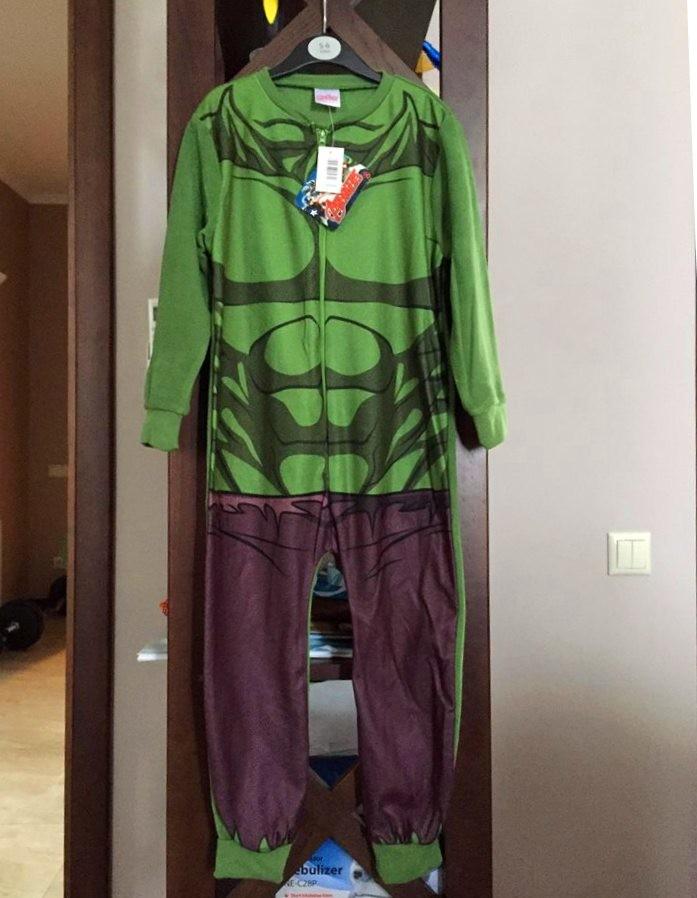 Пижама флисовая сдельная марвел халк 821a199413d3e