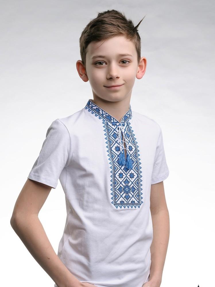 Футболка вышиванка детская, вишиванка для хлопчика, р-р 98-146 фото №1
