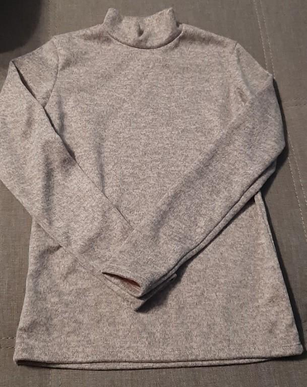 Ангоровый тепленький гольф цвета пудра, р. 44 фото №1