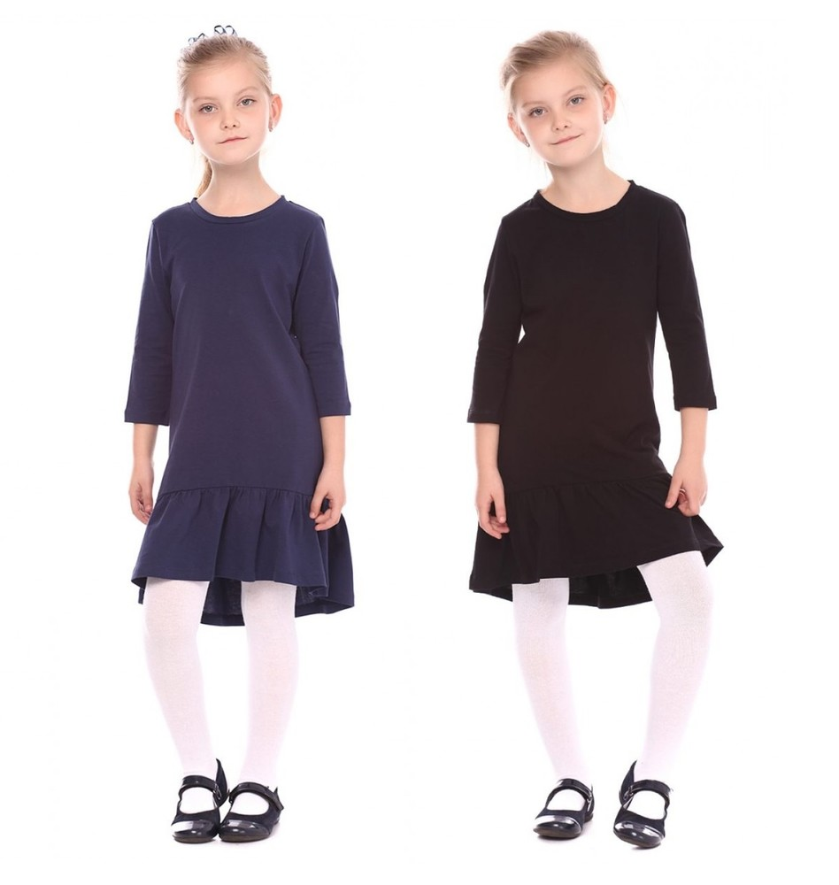 Трикотажное платье для девочки. фото №1