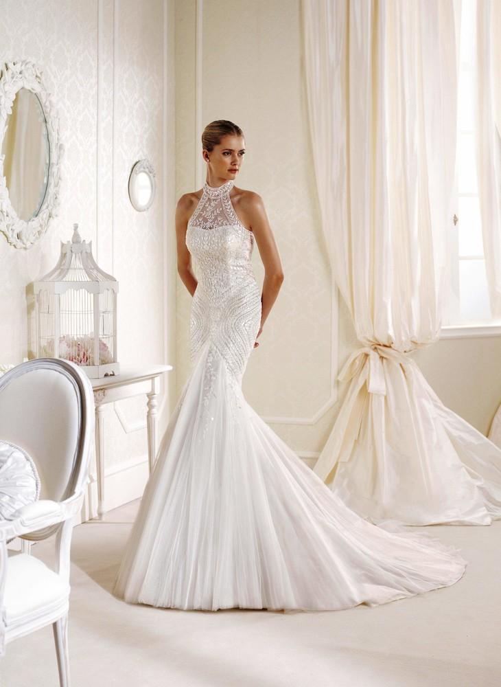 Продам новое свадебное платье la sposa, модель idelle, размер 12uk. фото №1