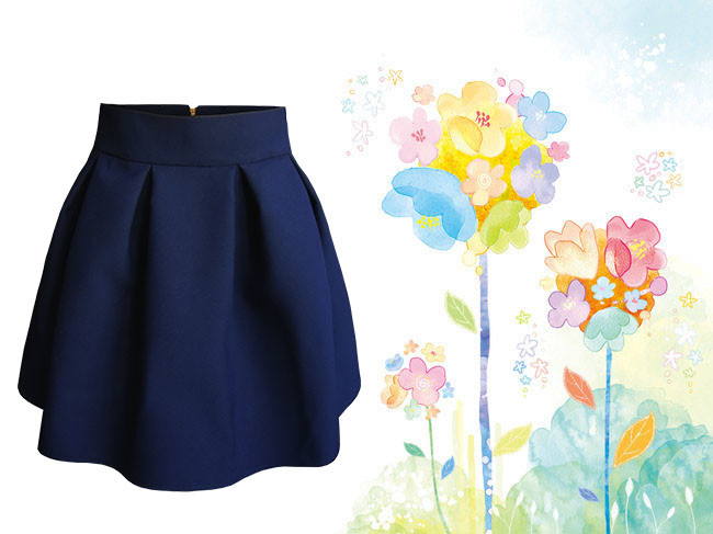 Юбка для девочки синяя, нарядна юбка, юбка для школы. фото №1