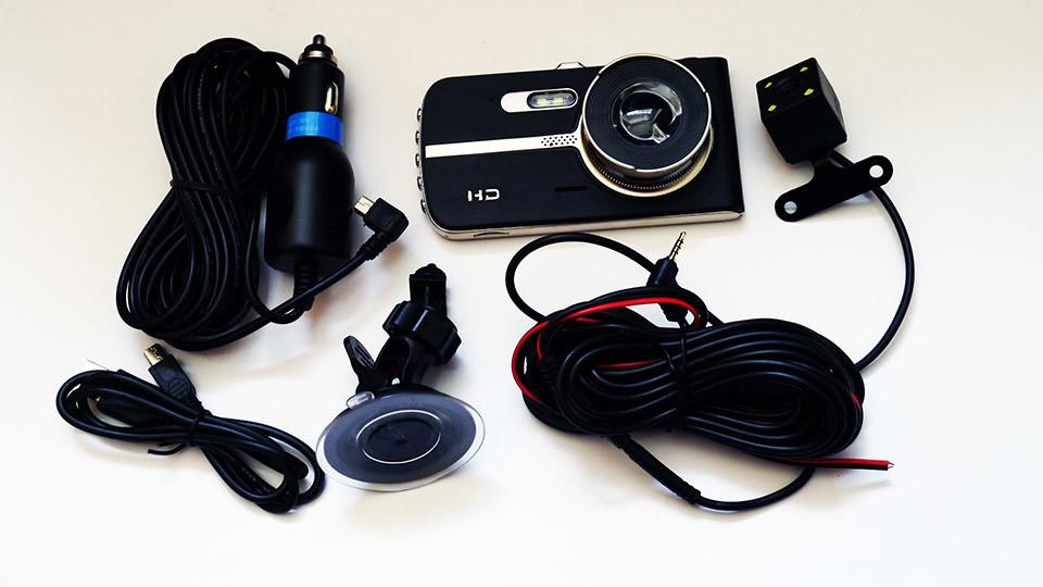 """Видеорегистратор dvr t653 full hd 4"""" экран. с выносной камерой заднего вида фото №1"""