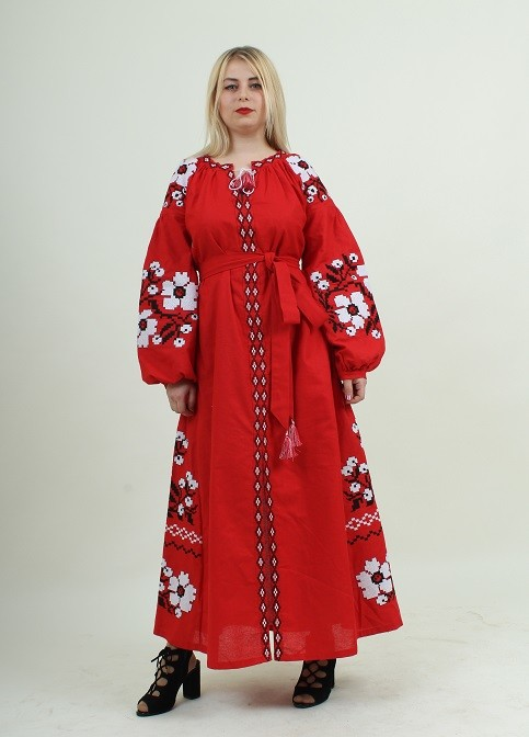 Платье в пол с вышивкой . вишита сукня фото №1