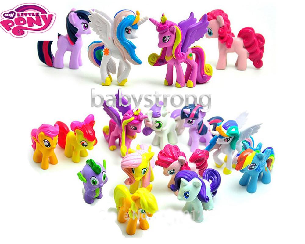 Набор фигурок май литл пони цена за 12 шт my little pony 4-5 см игрушки набор фигурок май литл пони фото №1