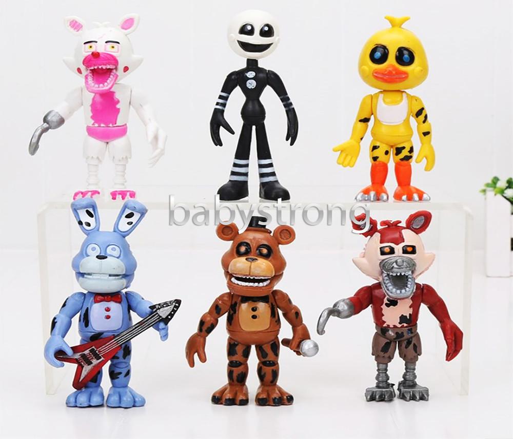 Коллекция 5 ночей с фредди 6 шт. фигурки 11 см фнаф аниматроники fnaf игрушки фото №1