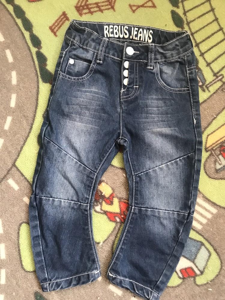 Продам детские джинсы rebus, 98 размер на 2-3 года в отличном состоянии фото №1