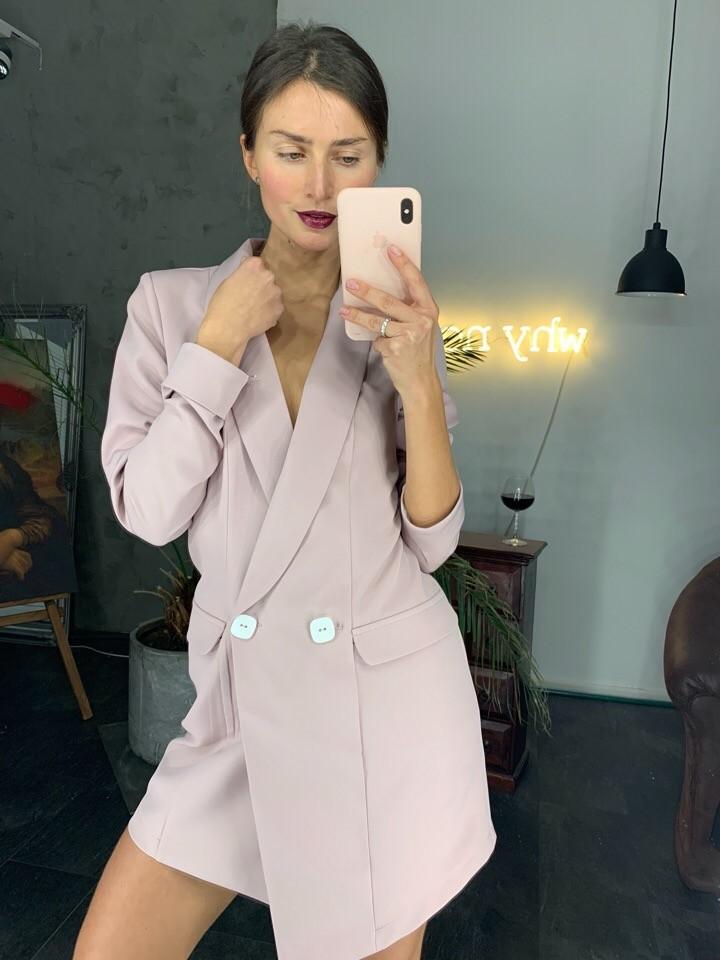 Платье-пиджак на пуговицах фото №1