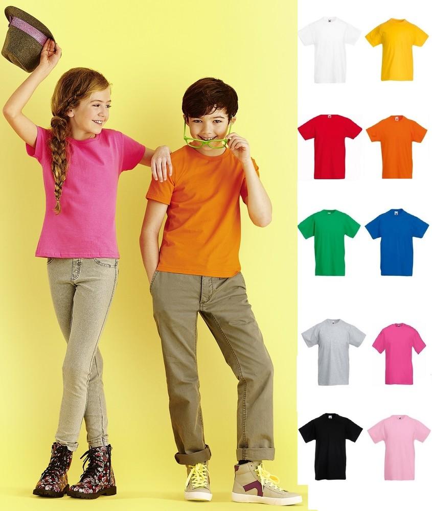 Детская футболка мягкая sofspun приталенная fruit of loom 100% хлопок фото №1
