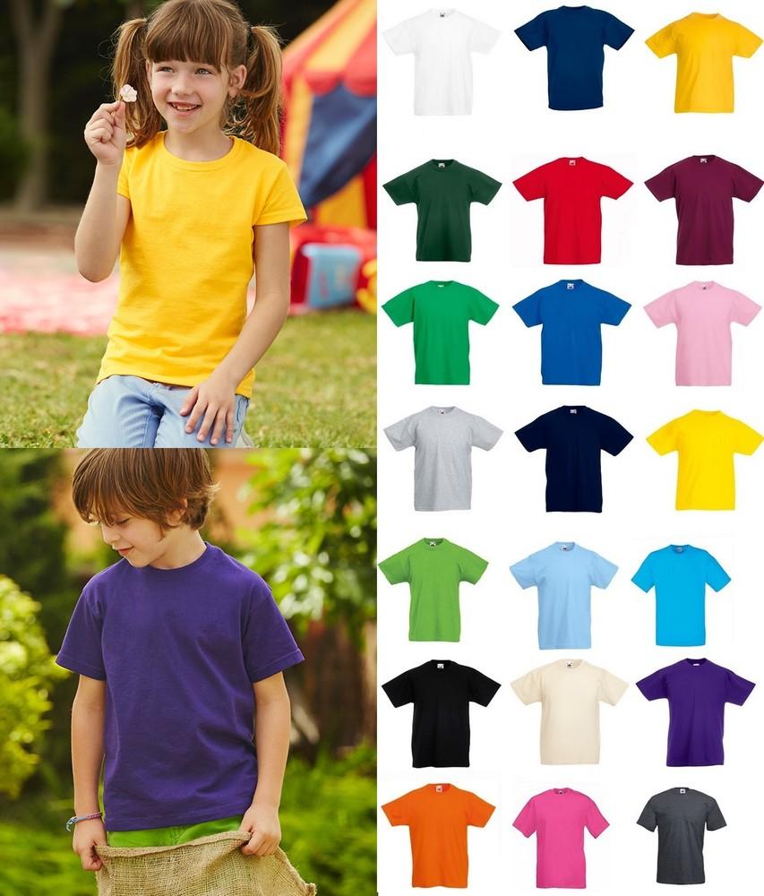 Детская футболка 100% хлопок классическая fruit of the loom 1-15 лет фото №1