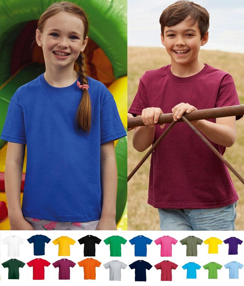 Детская футболка тонкая 100% хлопок легкая унисекс fruit of the loom фото №1