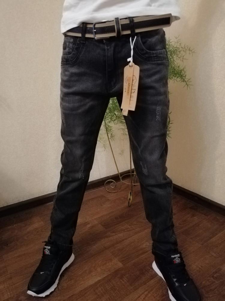 Черные джинсы 134-158 фото №1