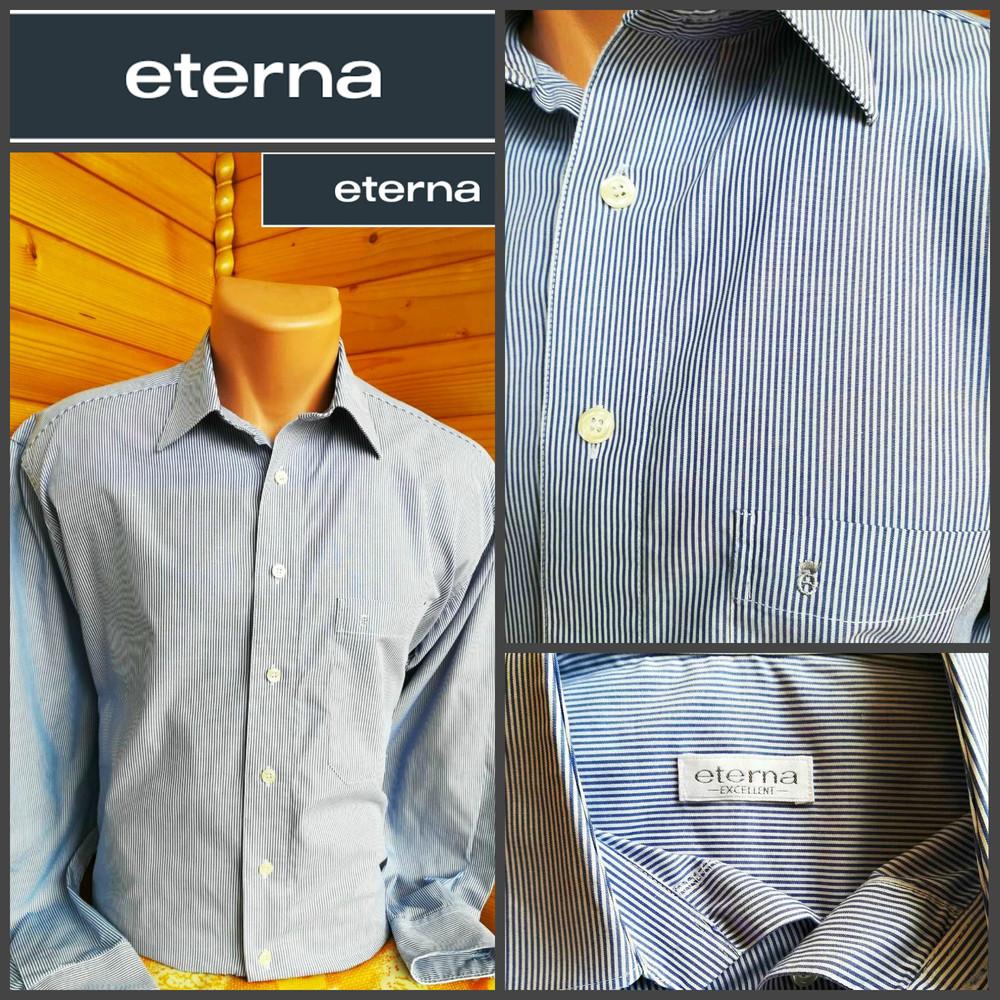 ae7b543d73f1d4e Стильная рубашка в полоску от eterna, оригинал, р.xl, цена 127 грн ...