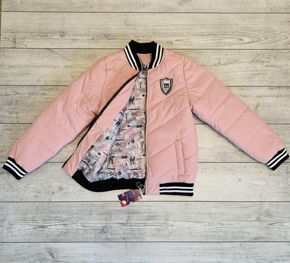 Бомбер на подростка 11-15 лет, новая коллекция, персиковый цвет фото №1