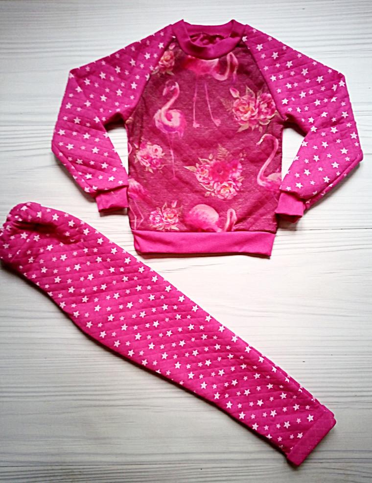 Костюм малиновый фламинго на девочку р-р 30 на рост 104-116 фото №1