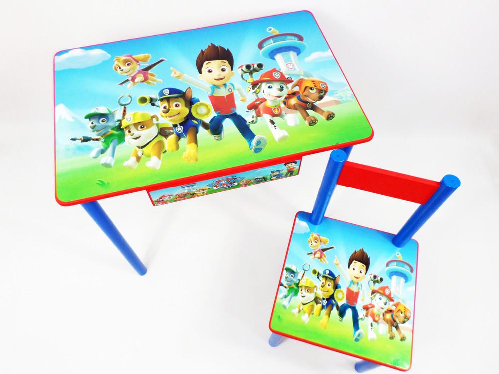 Детский стол и стул (парта стол) от 2 до 7 лет щенячий патруль фото №1
