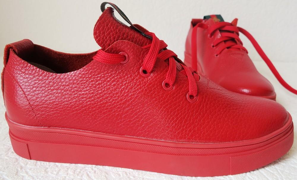 71b8017e6 Gucci! красные красивые кожаные кеды мокасины женские слипоны в стиле гуччи  фото №9
