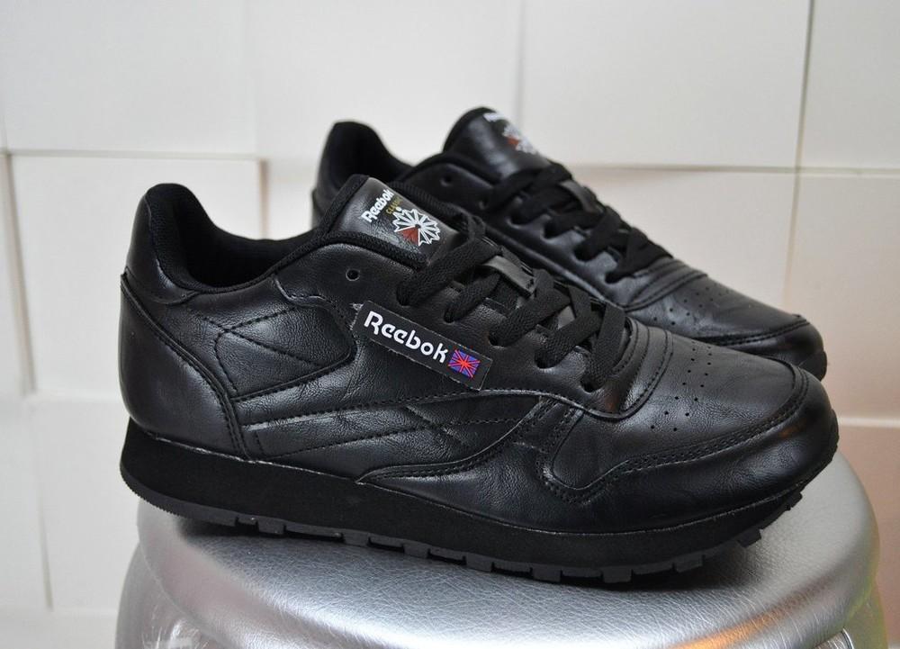 Черные стильные кроссовки из эко кожи! классика фото №1