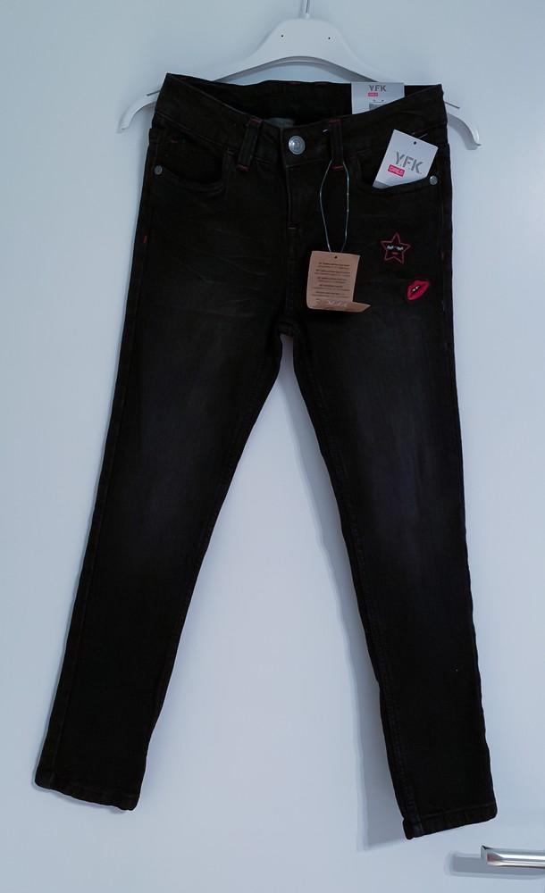Новые чёрные красивые джинсы фото №1
