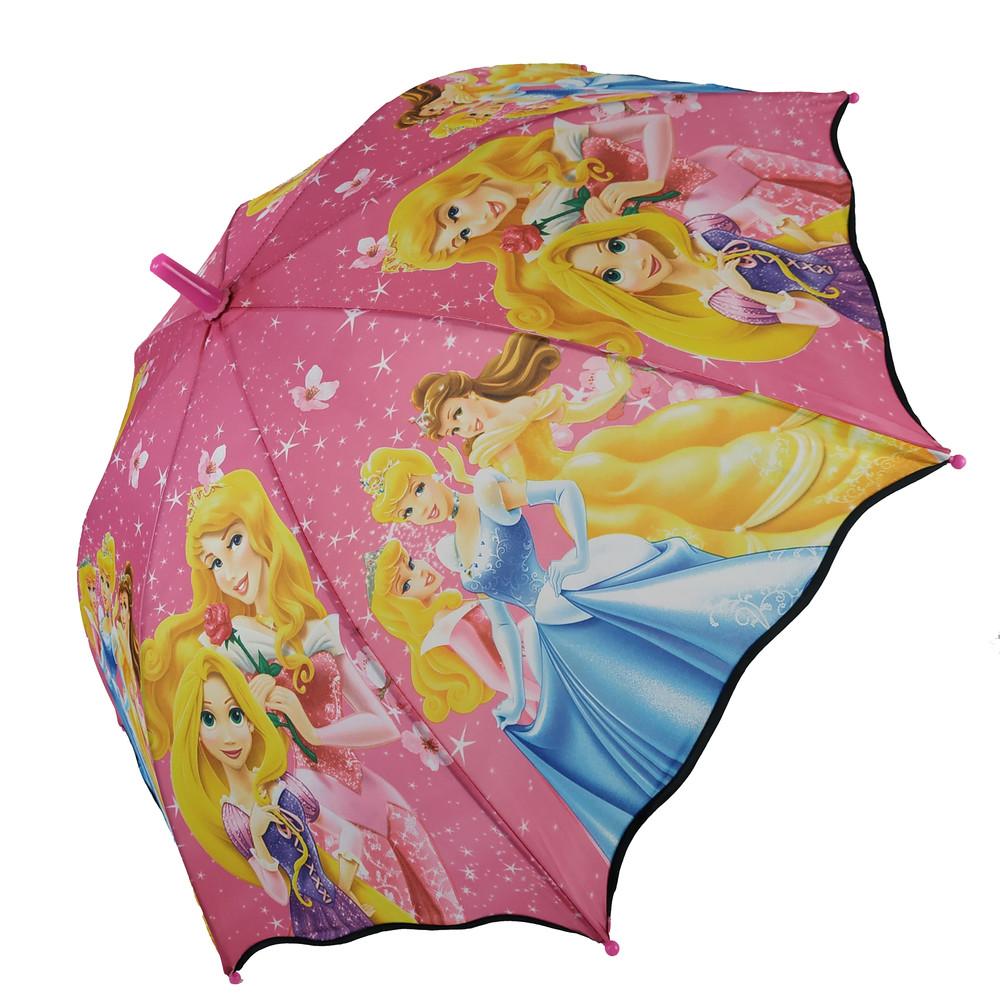 Детский веселый зонт c изображениями героев мультиков фото №1