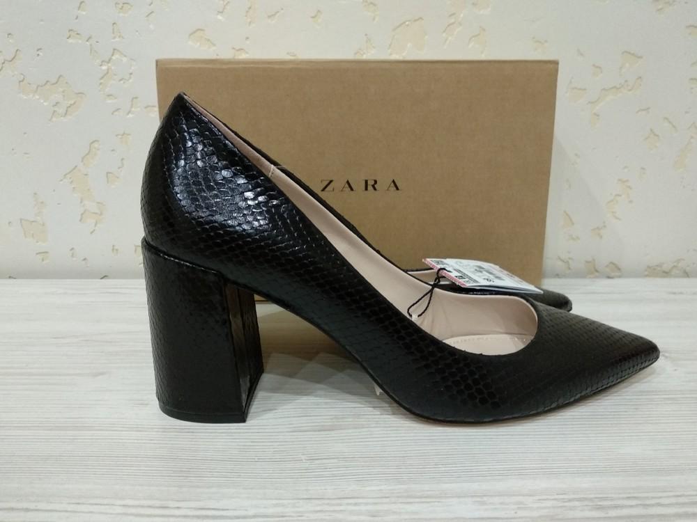 Туфли zara из натуральной кожи размер 39 (25.3) см полномерки.цена 1200 грн. фото №1