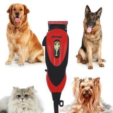 Профессиональная машинка для стрижки животных gemei австрия от сети ,в подарок две расчески! фото №1