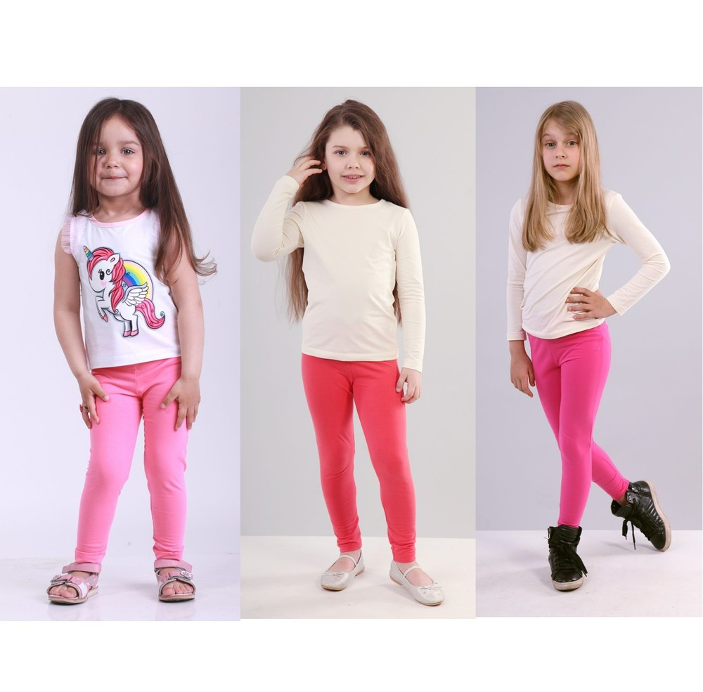 Яркие лосины для девочки из хлопка. фото №1