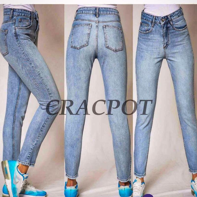 Шикарные мом джинсы высокая талия фото №1