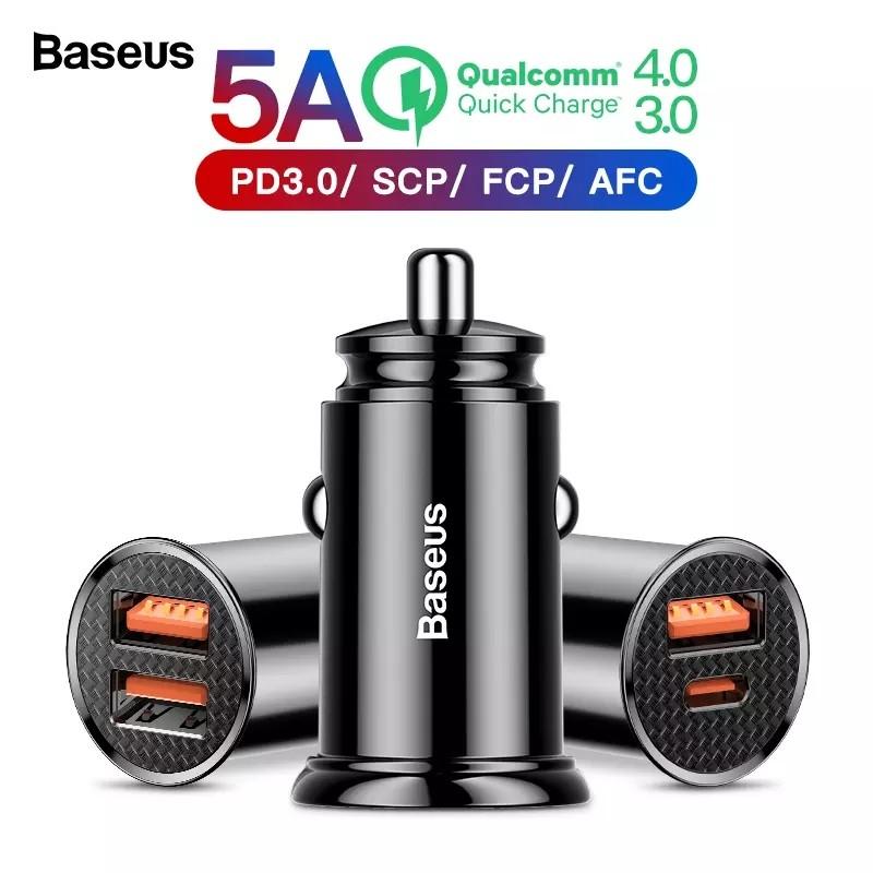 Baseus fast charge. usb зарядное устройство в прикуриватель автомобиля фото №1